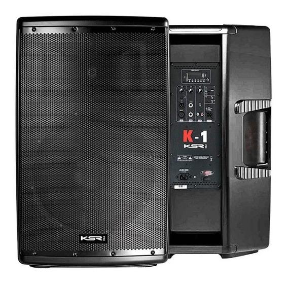 Caixa D/som Ativa 15 Polegadas Ksr Mixer K1b Bluetooth 1000w