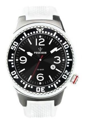 Relógio Mod. Poseidon, Alemão Branco Up00402 Alta Qualidade!