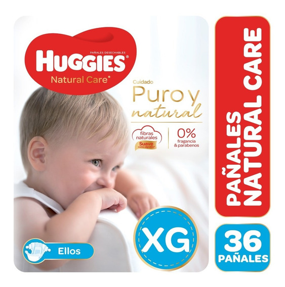 Pañales Huggies Natural Care Puro Y Natural Ellos M G Xg Xxg