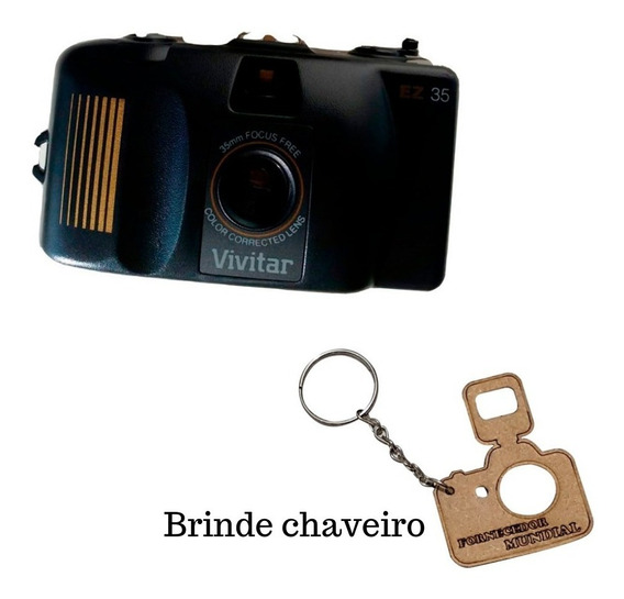 Câmera Fotográfica Antiga Vivitar 35mm + Brinde Retrô D63