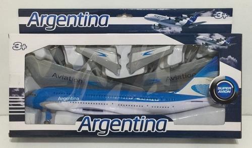 Avion Aerolinea Argentina Grande En Caja Jlt 380a-3 La Torre