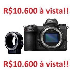 Câmera Nikon Z6 + Adaptador Ftz Por 10.600 A Vista
