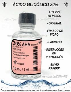 Ácido Glicólico 20% - 30 Ml - Grátis Neutralizante