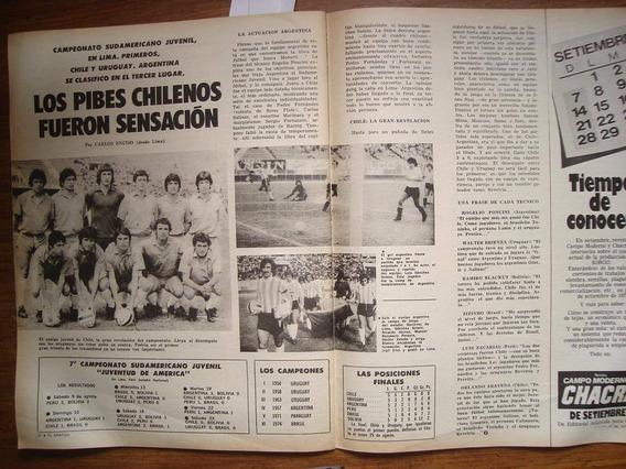 Revista El Grafico Copa Ciudad De Mexico75 Sudamericano Juve