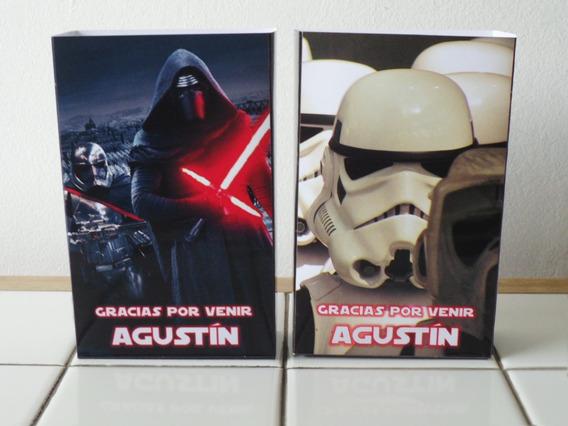 10 Bolsitas Cumpleaños Personalizadas Star Wars
