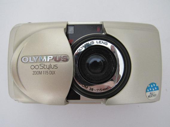 Antiguidade Máquina Câmera Fotográfica Olympus Stylus 115dlx