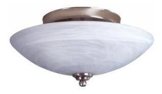 Lámpara Techo Plafon Marmol Duna Satinado E27 2x60w Calux