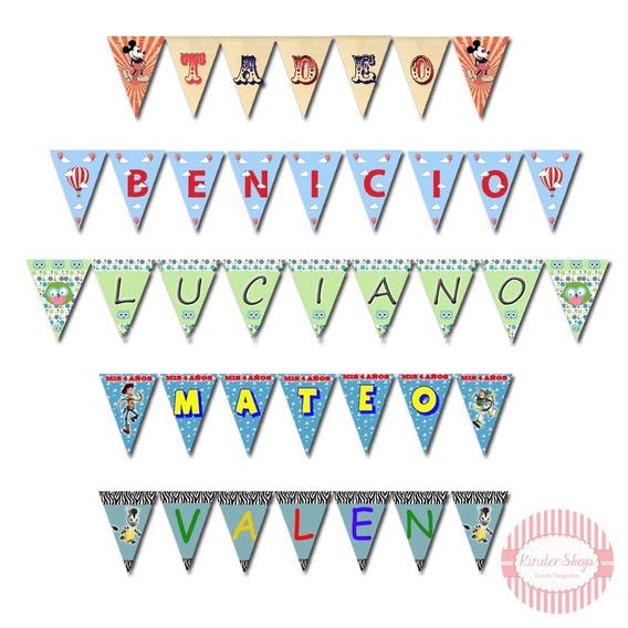 Banderines Imprimibles Personalizados Todas Las Temáticas