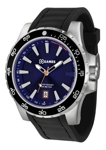 Relógio X-games Masculino Xmsp1015 D1px Azul Aço