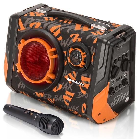 Caixa De Som Bluetooth Portatil Led Potente Mp3 Sd Com Microfone Cabo 5 Mts Equalizador Bivolt Bateria Recarregavel