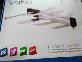 Antena Digital Externa Tv Indusat 1500i Hdtv Uhf Vhf Fm 4x1