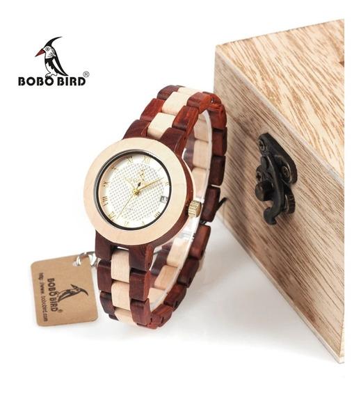 Reloj De Madera Dama Bobo Bird