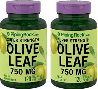 2 Potes Folhia De Oliveira 750 Mg 240 Cáp Piging Rock Eua