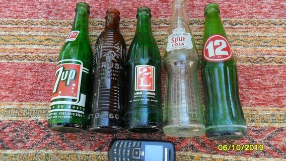 Lindo Lote Antigua Botella Chica Crush 2l 12 Spur Seven