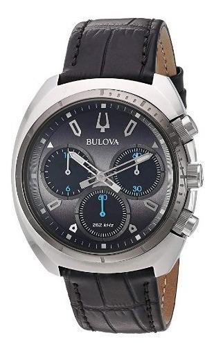 Relógio Bulova Masculino Curv Cronógrafo Preto/couro Origina