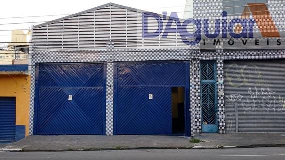 Galpao De 400m² Em Santana, Apenas 900 Metros Do Metro Com Mesanino E Salas De Escritório - Dg2299
