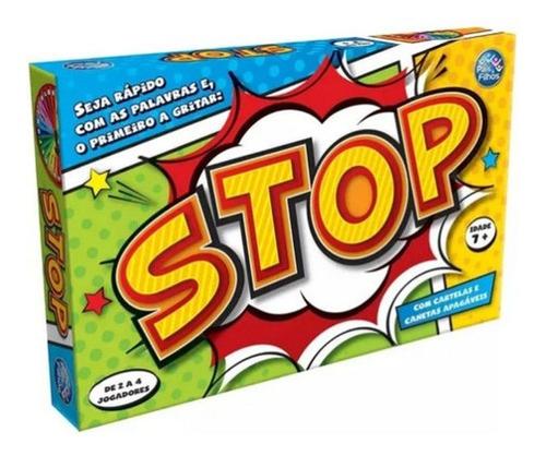 Imagem 1 de 3 de Jogo Brincadeira Stop 1 Roleta 4 Cartelas 4 Canetas Apagador
