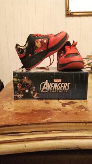 Zapatillas Con Ruedas Avengers Originales Como Nuevas Orig!!