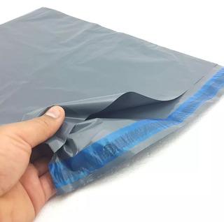 Envelope Cinza Plástico Segurança Sedex 12,5x25 1000 Pçs