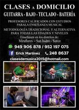 Clases De Guitarra-bajo -bateria Particulares A Domicilio