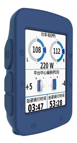 Forro Premium En Silicona Para Garmin Edge 520 Color Azul