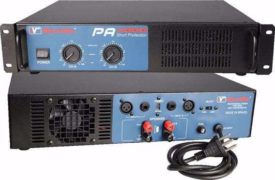Amplificador Potência New Vox Pa 6000 - 3000w Rms