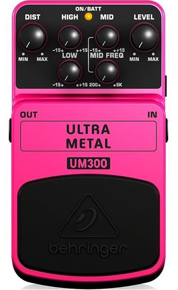 Pedal Guitarra Distorção Heavy Metal Behringer Um300