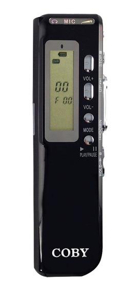 Gravador Digital Voz Telefônico Mp3 4 Gb Coby Cvr20 Preta