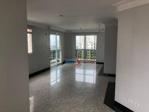 Apartamento Com 3 Dormitórios À Venda, 150 M² Por R$ 1.250.000,00 - Jardim Anália Franco - São Paulo/sp - Ap1965