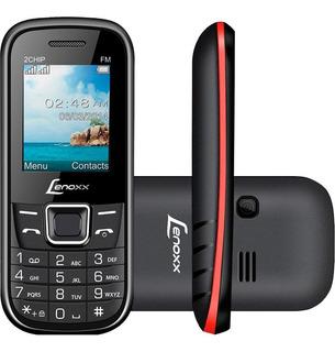 Celular Lenoxx Dual Chip Mp3 Rádio Fm Preto/vermelho Cx 903
