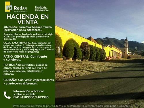 Rancho En Venta Carretera Apizaco-tlaxco