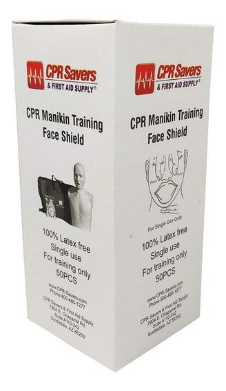 Protector Facial Capacitacion Maniqui Rcp Cpr Savers 50pz