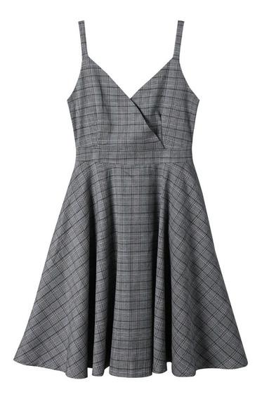 Vestido Zaful Plaid Dress Cuadros Moda Japonesa