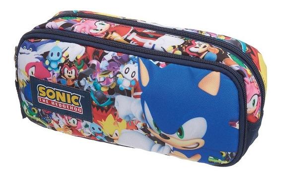 Estojo Duplo Especial Sonic Modern Pacific