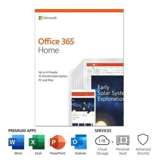 Giftcard Ms Office 365 Family 1 Ano 6 Pessoas