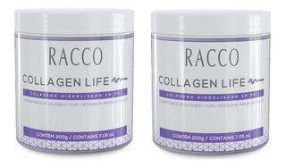 Kit 2 Colágeno Hidrolisado Collagen Life Racco Tipo 1,2 E 3