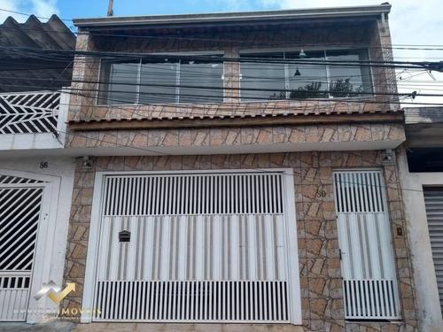 Sobrado Com 3 Dormitórios À Venda, 209 M² Por R$ 510.000 - Vila Luzita - Santo André/sp - So0900