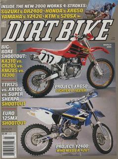 Dirt Bike Mar/2000 Yamaha Ttr125 Xr100 Kawasaki Super Sherpa
