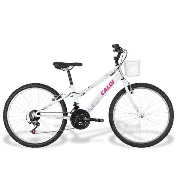Bicicleta Caloi Ceci 2017, 21 Marchas, Aro 24, Cestinha