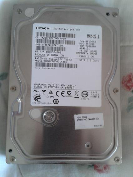 Disco Duro Hitachi, 500 Gb, Sata 6.0, Rpm 7200rpm - Para Pc