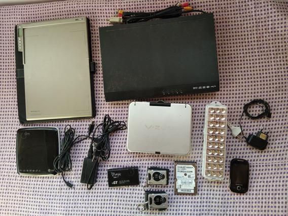 Lote De Produtos Eletronicos - Dvd, Hd 500gb Celular Samsung