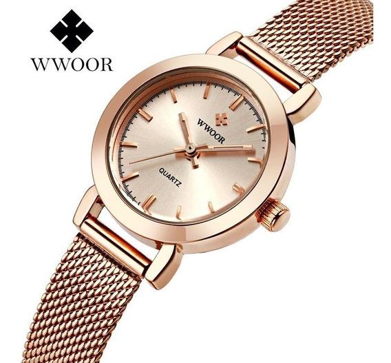 Wwoor Relógio Analógico Feminino Original Lazer
