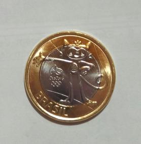 Brasil -moeda Comemorativa Olimpiadas- Mascote Vinicius
