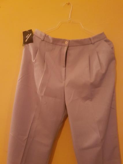 Pantalón De Dama, Color Grisáceo.