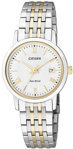 Reloj Citizen Eco-drive Zafiro Japón Dos Tonos Mujeres