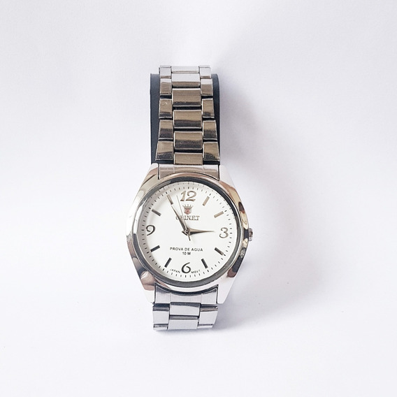 Relógio Feminino Orinet Cor Prata Envio Imediato