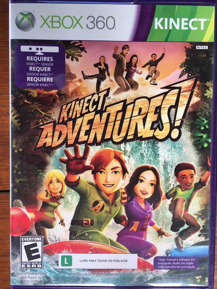 Jogo Kinect Adventures - Xbox 360 Lacrado Novo Mídia Física