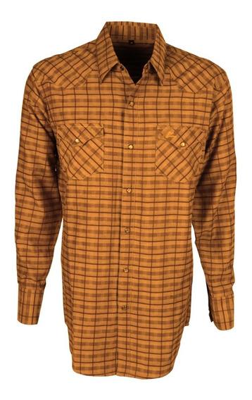 Camisa Vaquera Icy Denver Chh019 Cuadros Amarillo