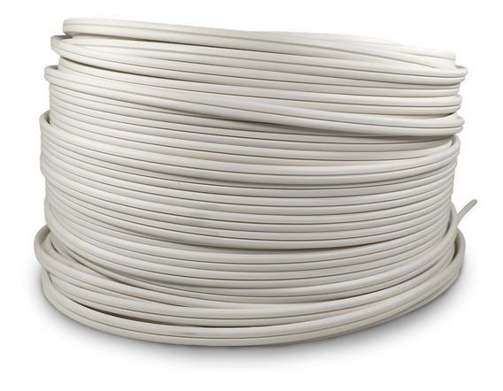 Cable Electrico Pot Duplex Calibre 18 Blanco 100m