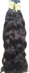 Cabelo Humano Liso Ondulado De 60cm 50 Gramas P/ Mega Hair.